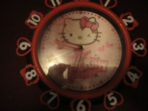 3D Hello Kitty Wall Clock New