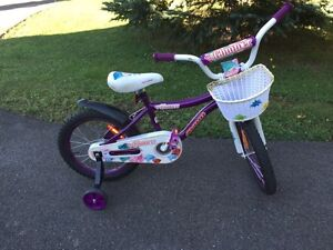 "Girls bike 16"" wheels with helmet"