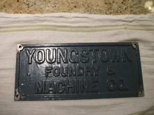 YOUNGSTOWN FOUNDRY CAST ALUMINUM  SIGN