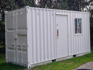 20ft sea container, fully insulated mobile office