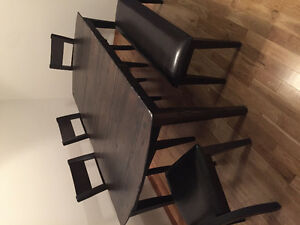 Solid 6 piece dining set