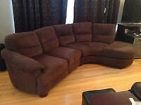 SOLD!  - Very Comfy Sofa:  Sectional, Chocolate, Good Condition