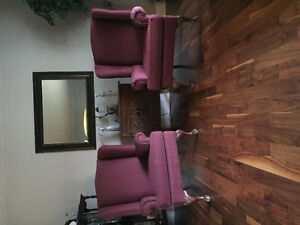 Wingback chairs.