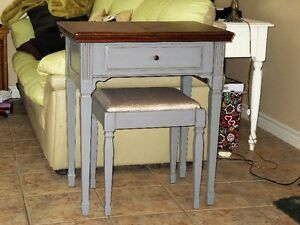 Sewing Machine Table and Matching Stool