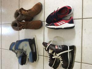 Bottes, souliers, patins