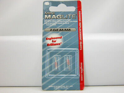 New 2-Pack of Maglite 2-cell AA or AAA Mini Replacement Bulbs Free Shipping!