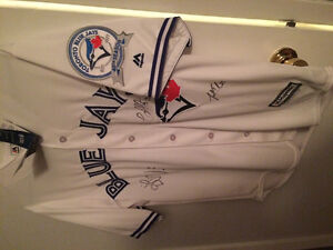 Blue Jays Jersey signed by 3 players