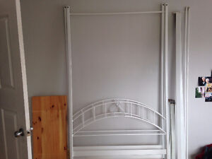 White Canopy Twin Bedframe