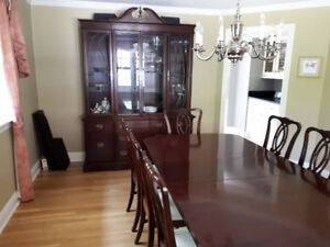 SOLD - Gibbard Solid Mahogany Dining Room Set