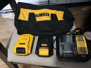 Selling (2) Newer dewault batteries and charger