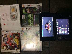 3DS Mario and Luigi dream team DS XL and games