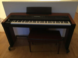Nice keyboard. Sounds great with foot pedals. Korg. Asking $500.