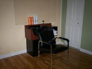 Articles de Salon de Coiffure et chaise pour lavabo et lavabo