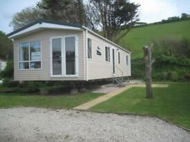 For sale luxury new static caravan holiday home sited South Devon beach pool bar
