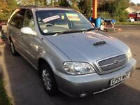 KIA SEDONA 2902cc L TURBO DIESEL 6 SEATER MPV 2003-04, SILVER, LOOK ONLY 1 FORMER KEEPER