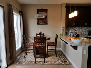 Condo size dining  table and 6 chairs