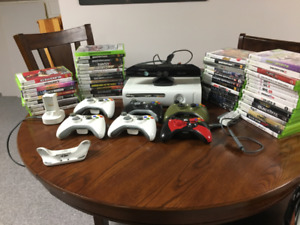 Xbox 360 - 60 GB with Games, Controllers and Accessories