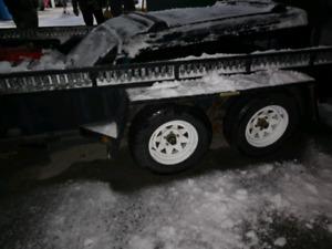7x12 JDJ Trailer reinforced rear ramp