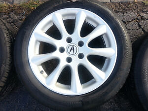 "Acura TSX OEM 17"" Rims, TPMS,  and Michelin Pilot Tires Cambridge Kitchener Area image 4"