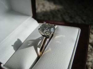 1.85 Ct 14K Gold Diamond Solitaire H Color, I3 Clarity, Fair cut London Ontario image 2