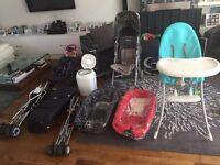 High chair, carry cots, travel prams, maclaren pram, travel cot & more