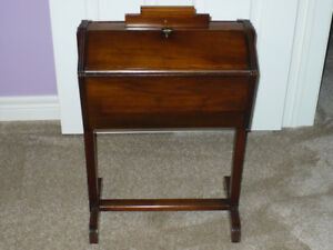 Antique Wooden Sewing Cabinet, Box, Stand