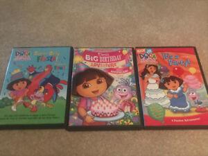 3 Dora the Explorer DVDs