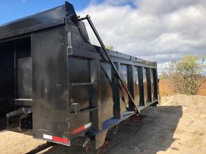 Aluminum Dump Box 16.5' with hoist