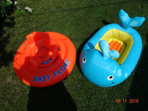 Swim/floating device & inflatable whale tub for infants/toddlers