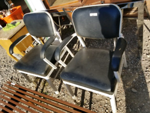 $150 Pair of Industrial lounge  chairs