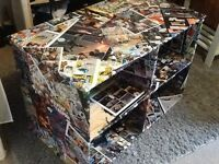 Comic book covered wooden shelves 19x33.5x23 inch
