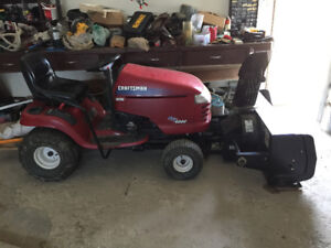 """27 HP Craftsman lawn tractor with 48"""" mower and snowblower"""