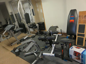 Lots of exercize/sports items