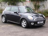 Mini Mini 1.6 Cooper, 2008, Black, 75 000 Miles, FSH, 1 Years Mot,