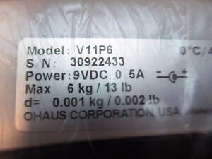 NEW - OHAUS Valor Compact Bench Scale M/N: V11P6 6kg/13lbs Kitchener / Waterloo Kitchener Area image 4