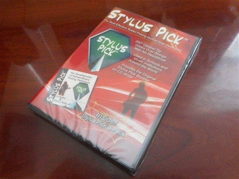 NEW Stylus Pick CD Rom & 3-Pack Guitar Picks!