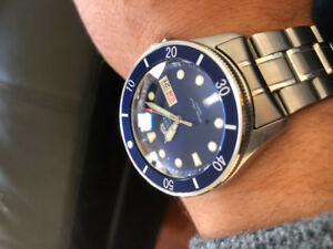 Orient Automatic Diver MODDED sapphire crystal