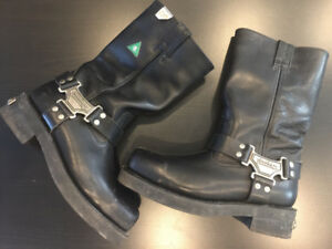 Harley Davidson Men's Motorcycle Riding Boots Size 8