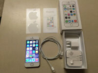 Factory Unlocked 16GB White iPhone 5S Silver (w/ Box & Access)