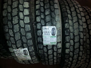 NEW TIRES 11R22.5 11R24.5 315/80R22.5 (STEER, DRIVE & TRAILER) West Island Greater Montréal image 3