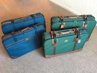 Suitcases two pairs