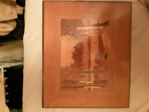 Vintage Woodart Marquetry picture