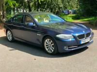 2010 60 Blue BMW 525d 3.0 Diesel SE Auto Full Nav Cream Leather FSH Great Car!!