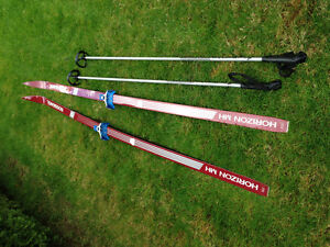 1 Lot of Men's Cross Country Skis, Poles & Boots