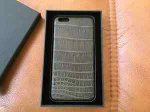 Hadoro Grey Alligator case Apple iPhone 6/6S Plus Made in France