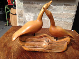 FOLK ART HAND CARVED GEESE - PARKER PICKERS -