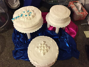 3 Tier Premade Cake Stand with gum paste Flower topper included! Strathcona County Edmonton Area image 7