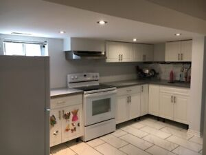1 bedroom basement(fully renovated) available for july or august