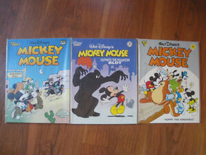 Lot of 3 Walt Disney Mickey Mouse Comic Albums