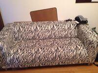 Zebra print ikea couch